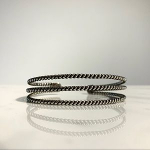 Jewelry - STERLING SILVER - CABLE LIKE CUFF BRACELET